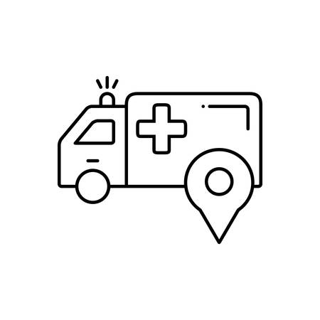 Ambulance location icon Çizim