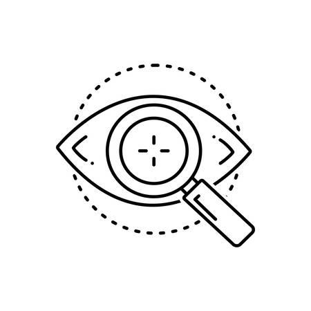 Eye test icon Vettoriali