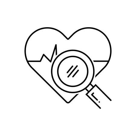 Health analysis icon