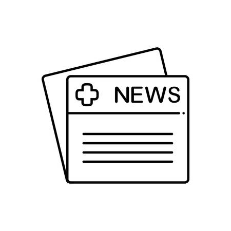 Medical news icon Иллюстрация