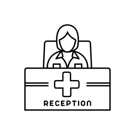 Receptionist icon Stockfoto - 124982688