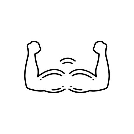 Muscle growth  icon Illustration