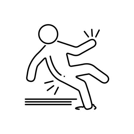 Slip accident icon