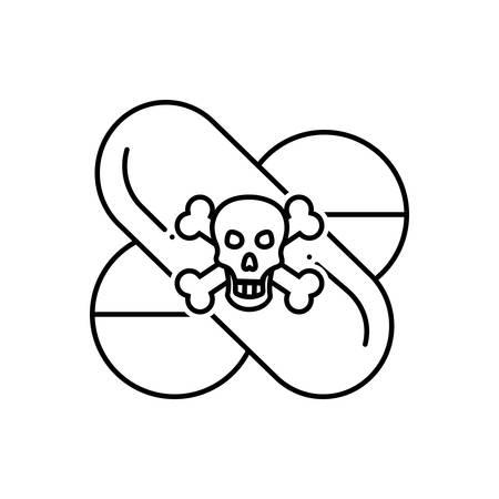 Dangerous drug icon