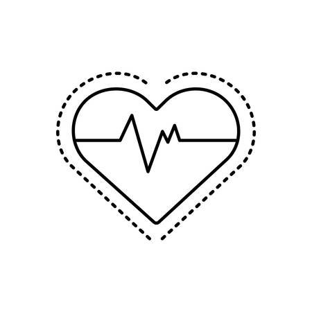 Heart pulse icon Иллюстрация