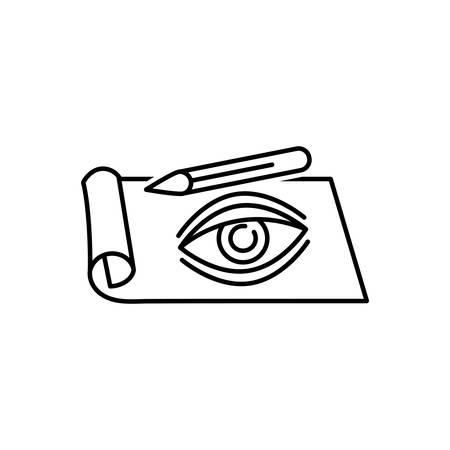 Sketching icon Stock Illustratie