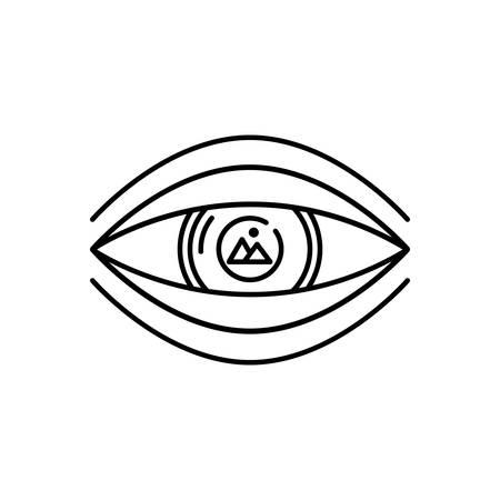 Visualization icon Ilustração