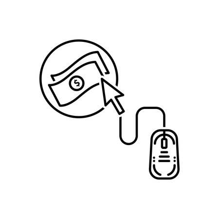 Online strategy icon Stock Illustratie