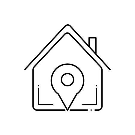 Navigation home  icon 向量圖像