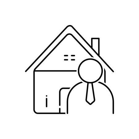 Real estate agent icon Ilustrace