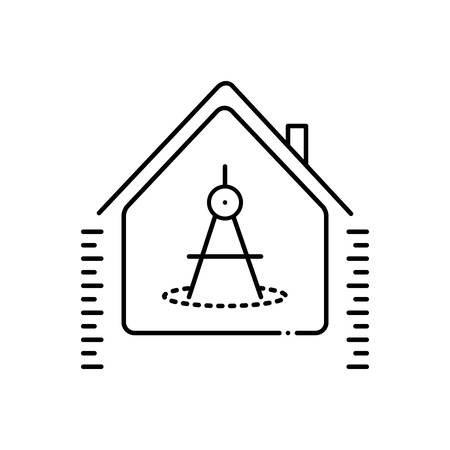 House measurement icon Ilustracja