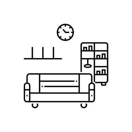 Home furniture icon Illustration