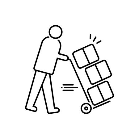 Moving services icon Çizim