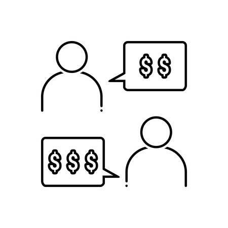 Negotiation icon Reklamní fotografie - 125075985