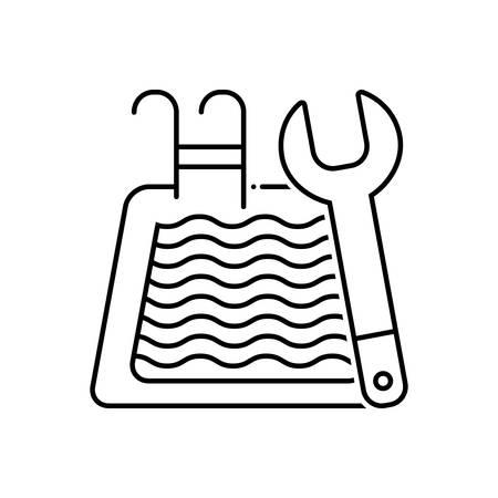 Pool maintenance icon Ilustrace