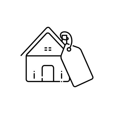 Mortgage price icon Illustration