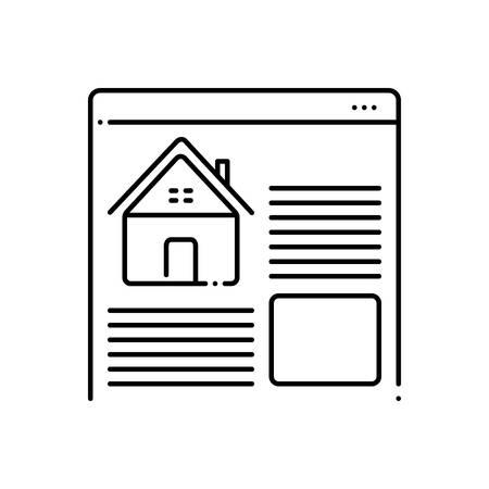 Real estate websites icon