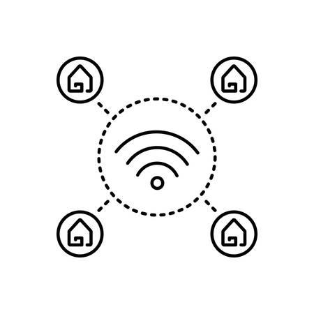 Wifi home icon Ilustrace