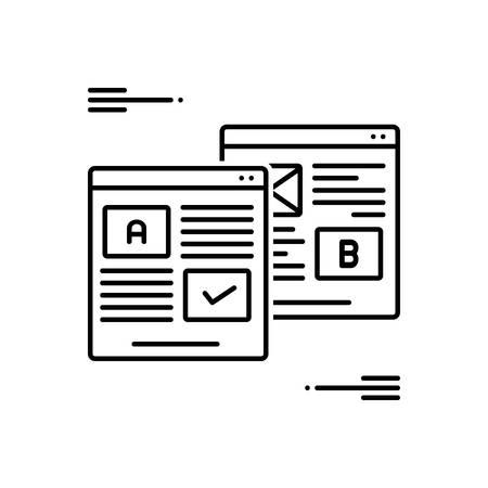Icon for ab,testing Stock Illustratie