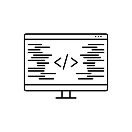 Icon for coding ,programming Çizim