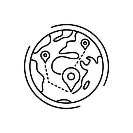 Icon for concepts,map Archivio Fotografico - 125076049