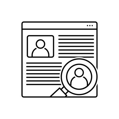 Icon for user, research Stock Illustratie