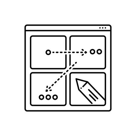 Icon for storyboard ,story Иллюстрация