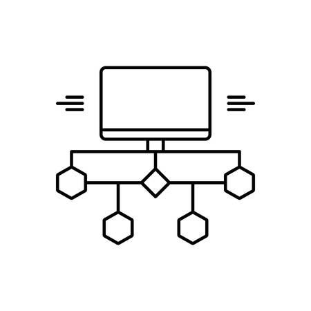 Icon for flow diagram, flow
