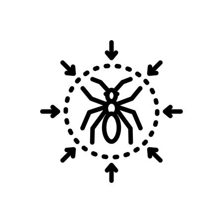 Icon for pest control,extermination Ilustrace