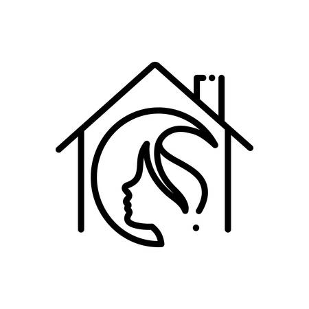 Icon for salon at home,haircare 向量圖像