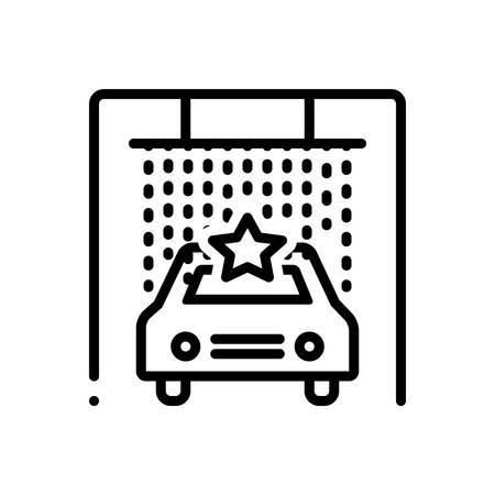 Icon for car,spa Illustration