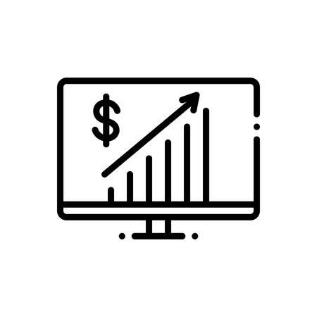 Business progress icon Stock Illustratie