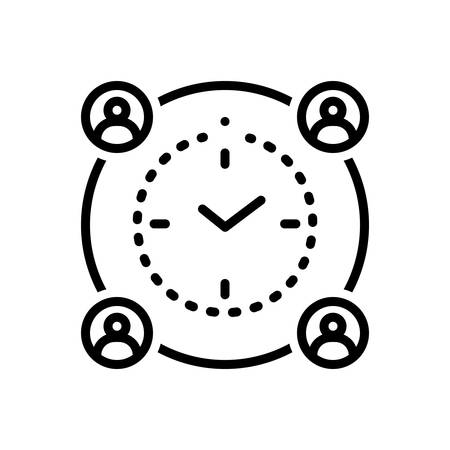 Meaning deadline icon 向量圖像