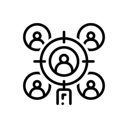 Target audience icon Stock Illustratie