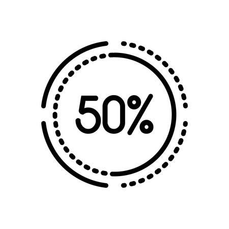 Percentage  icon Ilustração