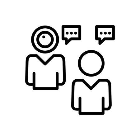 Icon for video,chat Illusztráció