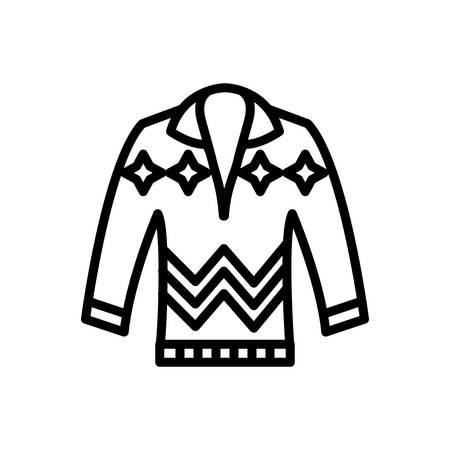 Icon for pullove, sweater 일러스트