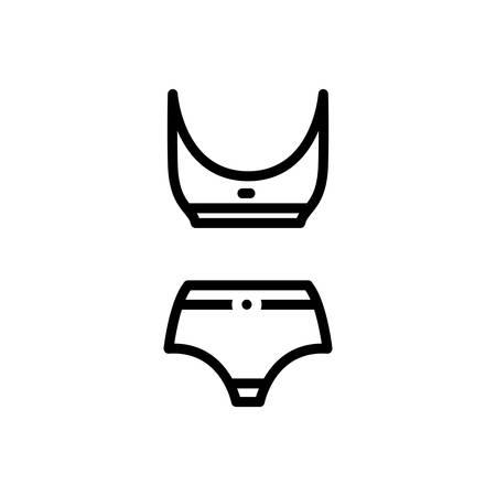 Icon for swimsuit, swimwear