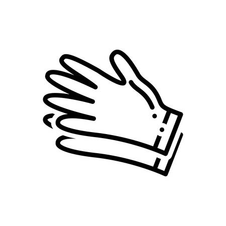 Icon for gloves , hand gloves