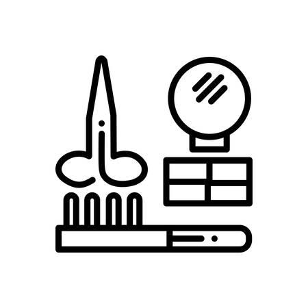 Icon for hairdresser ,tools Ilustração