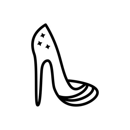 Icon for heels ,shoes Ilustracja