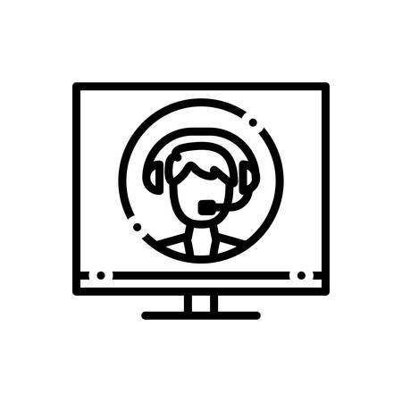 Icon for online,consultant Archivio Fotografico - 125804886