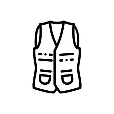 Icon for vest , jackets Ilustracja