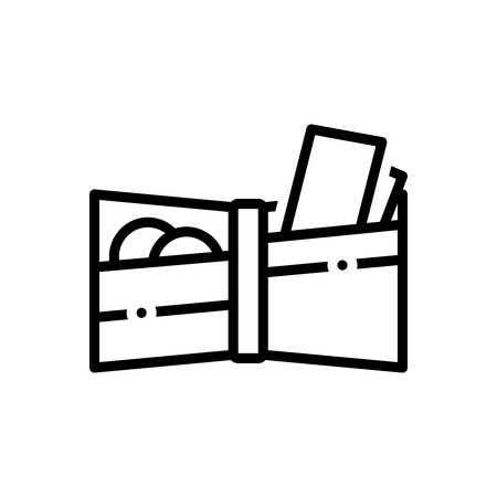 Icon for wallet, purse Stock Illustratie