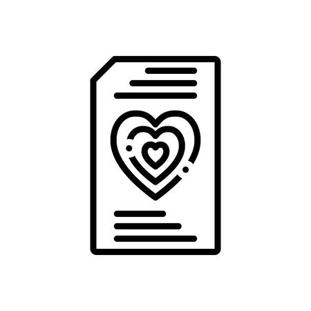Icon for wishlist, document