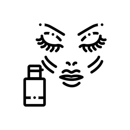 Icon for foundation,makeup  イラスト・ベクター素材