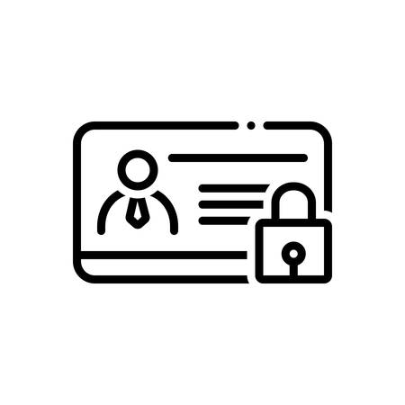 Icon for identity,protection Иллюстрация