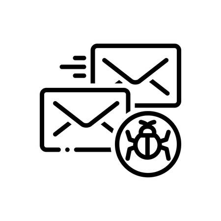 Icon for infected,mail 向量圖像