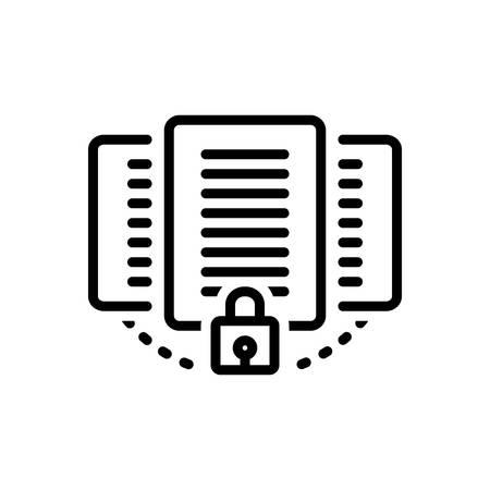Icono de documento, protección Ilustración de vector
