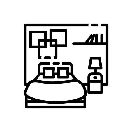 Icon for bedroom,dorm